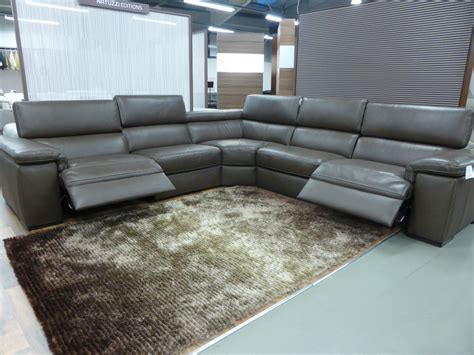 Natuzzi Editions Corner Sofa by Natuzzi Editions Brown Panama Large Power Corner Sofa