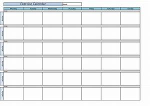 printable exercise calendar calendar template 2016 With exercise calendar template free