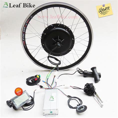 24 inch 36v 750w rear hub motor electric bike conversion kit leaf