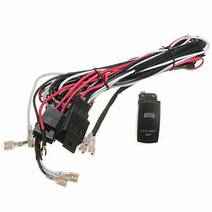 Atv  Jeep Led Light Bar Wiring Harness 12v 40a Relay On  Off