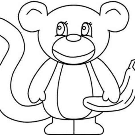 monkey swinging   tree branch coloring page monkey
