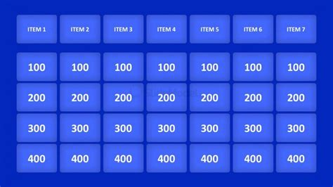 Animated Jeopardy Game For Powerpoint