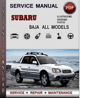 free online car repair manuals download 1986 subaru xt electronic throttle control subaru baja service repair manual download info service manuals