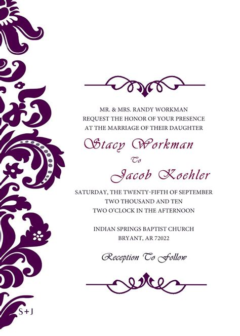 wedding invitation designs Google Search (With images