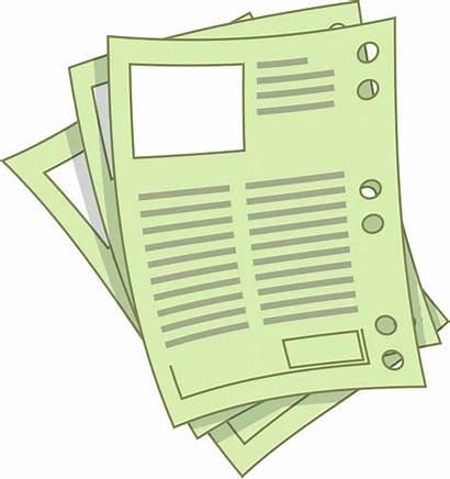 Sheets Clipart Paper Clip Sheet Report Transparent