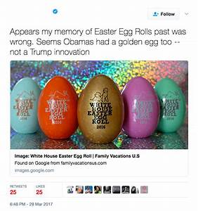 No, Trump is not the first to have golden Easter eggs