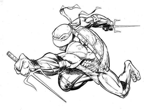 Ninja Turtle Raphael Drawing At Getdrawingscom Free For