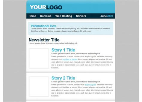 newsletter html template free html newsletter templates noupe