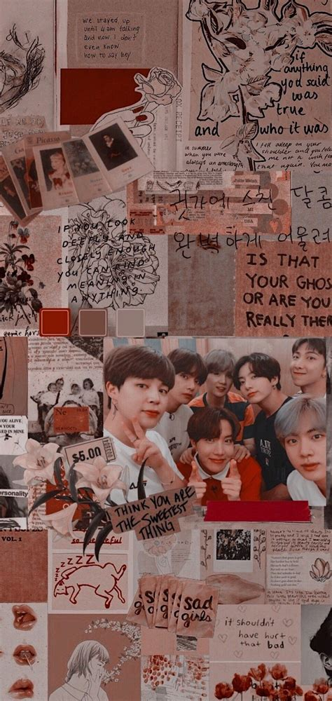 bts aesthetic wallpaper credits to