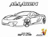 Mclaren Coloring Cars Fast F1 P1 Bugatti Super Mp4 12c Laren Cool Mc Mercedes Race Template Boys Yescoloring Mp sketch template