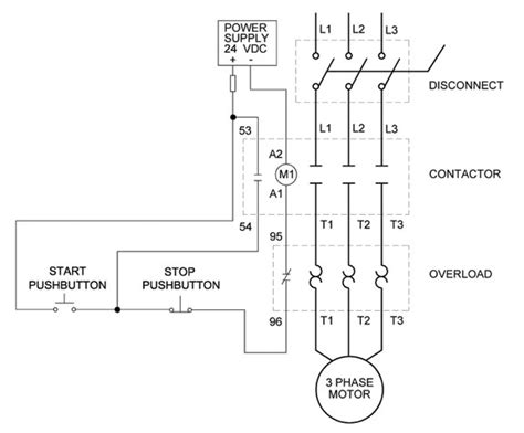 help with a ghisalba 3 phase motor starter to do a latching start stop