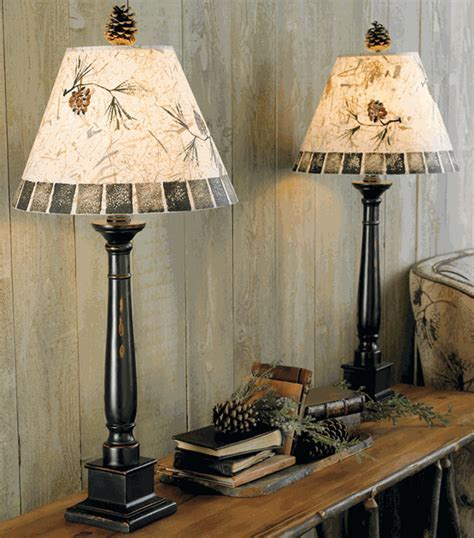 Pinecone Buffet Lamp