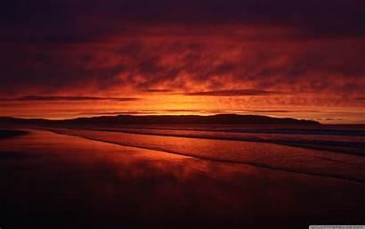 Sunset Beach 4k Desktop Background Wide Ultra