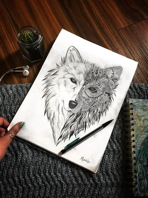 geometric wolf ideas  pinterest geometric