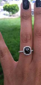 are you a fan of the black diamond engagement ring a la With carrie bradshaw wedding ring