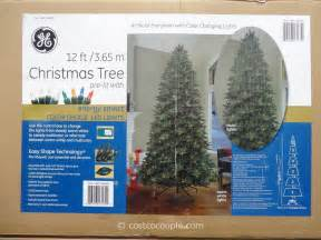 ge 12 feet pre lit led christmas tree