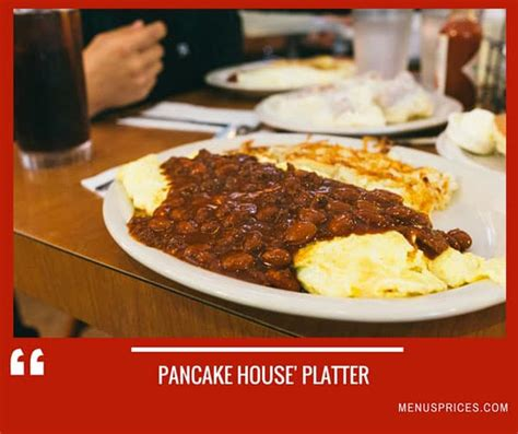 pancake house menus prices complete list   pancake house foods  beverages