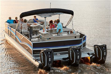 Dodici Pontoon by A 300hp Pontoon Premier Dodici Powerboating