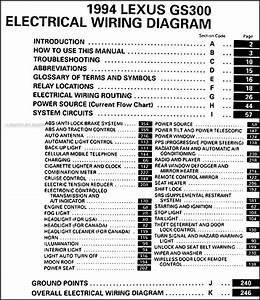 1994 Lexus Gs 300 Wiring Diagram Manual Original