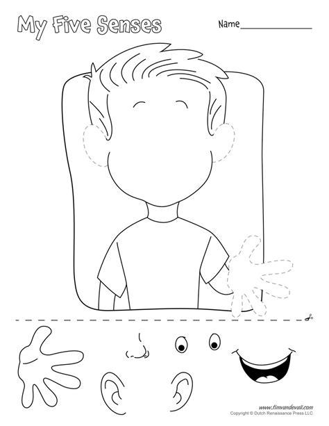 five senses craft tim s printables 119 | five senses cut and paste