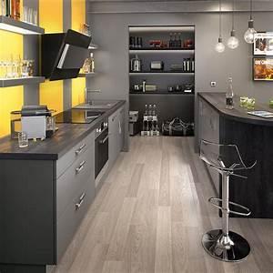 cuisine grise marie claire maison With deco cuisine avec chaise grise et bois