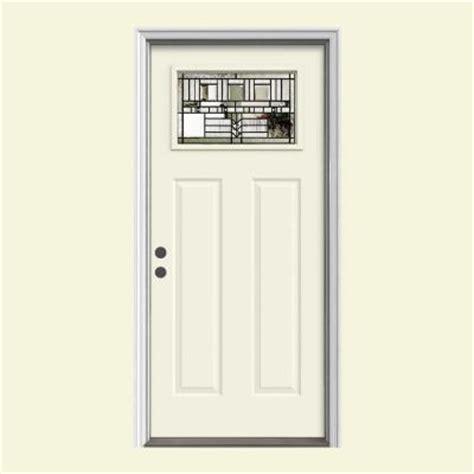 home depot craftsman door jeld wen 36 in x 80 in craftsman oak park 1 lite premium
