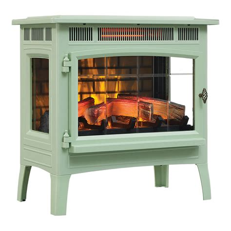 duraflame  pistachio infrared electric fireplace stove