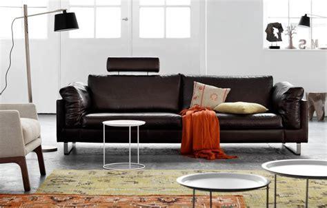 canape bo concept canapé en cuir marron foncé indivi 2 boconcept boconcept