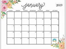 Calendar for February 2019 Calendar Template