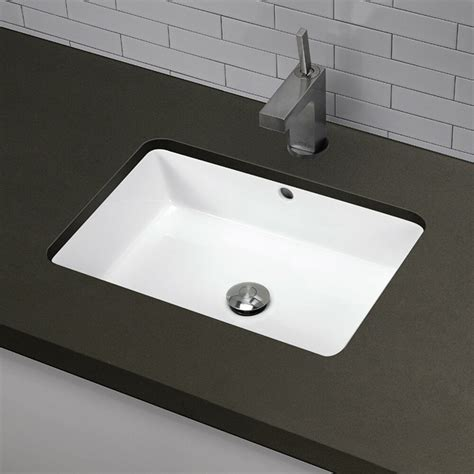 Rectangular Sinks Bathroom by Decolav Classically Redefined Rectangular Undermount