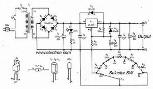 gt circuits gt lm317 linear power supply regulator selector With an adjustable voltage regulator lm317 to design the charging circuit