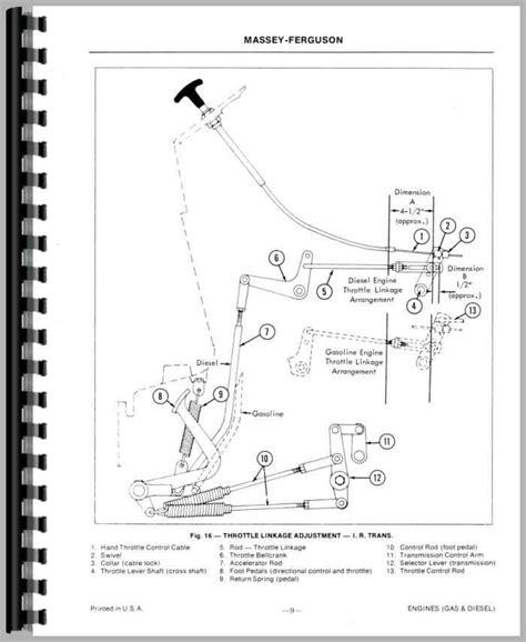 massey ferguson 50a industrial tractor service manual