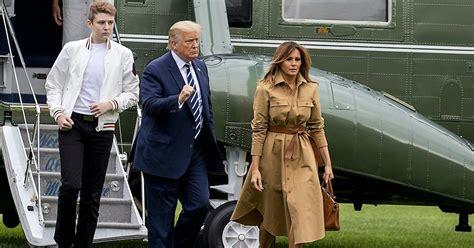 trump barron covid does lady