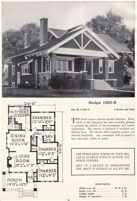 craftsman style bungalow house plans vintage residential architecture