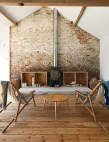steinwand wohnzimmer tapete backstein tapete schicke rustikale akzente in der modernen wohnung