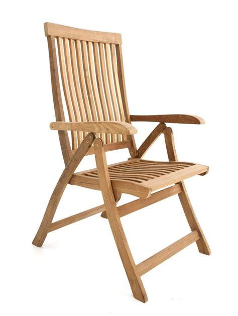 chaise de jardin en teck chaise jardin haut de gamme dossier inclinable saloon