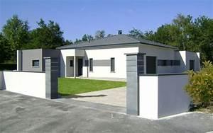 Maison Moderne Toit Plat : maison moderne tuiles grises et toit plat maisons bati sud ~ Nature-et-papiers.com Idées de Décoration