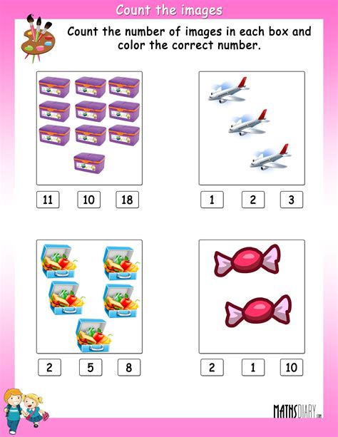 counting ukg math worksheets page