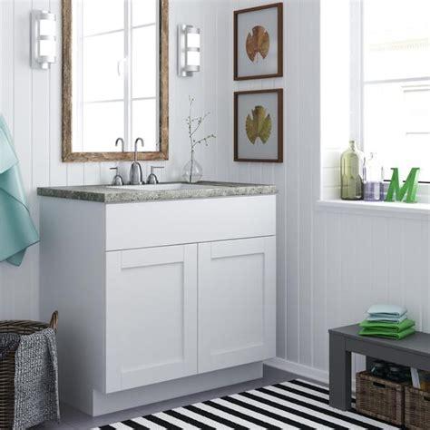 altra   white shaker style bath vanity cabinet