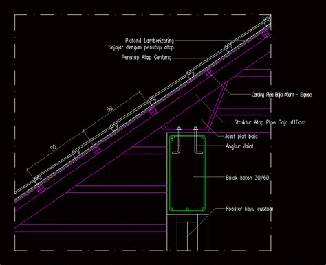detail atap dwg detail  autocad designs cad