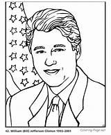 Coloring Clinton Bill Presidents President Bush George Printable Patriotic Printables Presidential William Flag History Popular Usa Printing Sheet Getcolorings States sketch template
