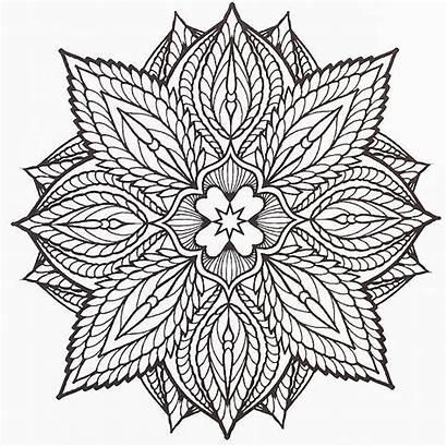 Coloring Pages Crazy Adult Mandala Mandalas Pattern