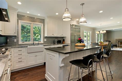 grey kitchen cabinets another white subway tile backsplash 6439