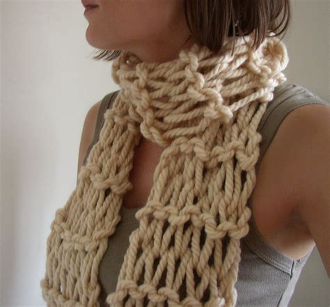 knit scarf chunky hand knit womens scarf by moocowhandknits on etsy