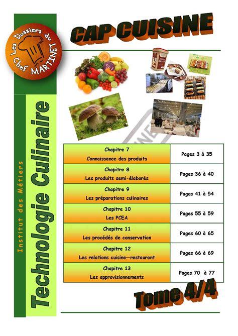 pcea cuisine calaméo technologie culinaire tome 4