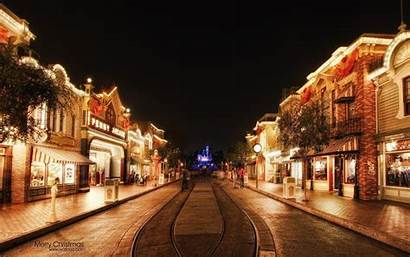 Disneyland Wallpapers Disney Street Background Christmas Main