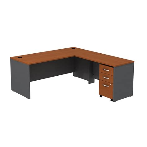 l shaped computer desk with drawers bush business furniture series c l shape computer desk