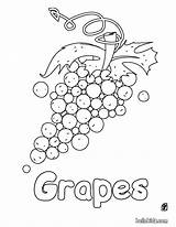 Coloring Grapes Pages Grape Fruits Fruit Hellokids Labels sketch template