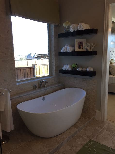 Corner Stand Alone Tub by Stand Alone Tub With Open Shelves And I Adore The Tile On