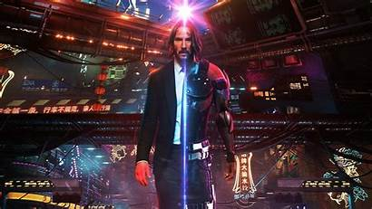 Cyberpunk Wick John Wallpapers Movies Resolution 4k